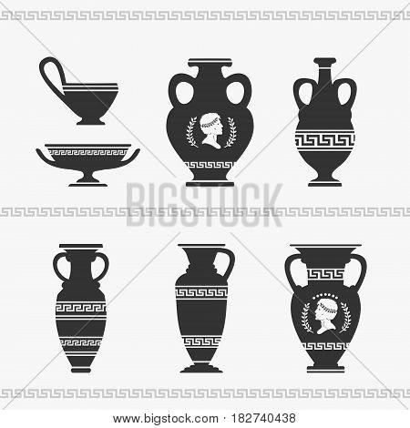 Greek Vase Set Vector Illustration eps 8 file format