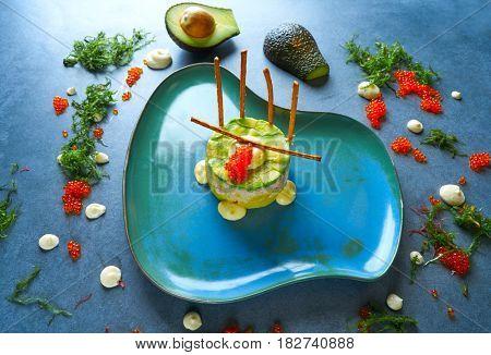 Shrimp Tartare with avocado Peruvian inspiration Tartar recipe