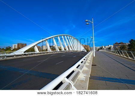 Valencia Alameda exposicion bridge on Turia river park