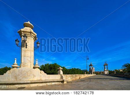 Valencia Puente pont del Mar bridge column in Spain