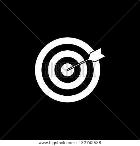Target keyword solid icon, seo and development, Darts sign, a filled pattern on a black background, eps 10.