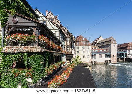 Traditional houses in La Petite France, Strasbourg, Alsace, France