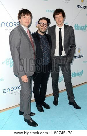 LOS ANGELES - APR 18:  OK Go, Andy Ross, Tim Nordwind, Damian Kulash at the Thirst Gala 2017 at Beverly Hilton Hotel on April 18, 2017 in Beverly Hills, CA