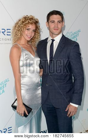 LOS ANGELES - APR 18:  Allie Silva, Steven R. McQueen at the Thirst Gala 2017 at Beverly Hilton Hotel on April 18, 2017 in Beverly Hills, CA
