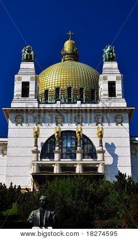 Impressive Art Deco Church In Vienna With Golden Cuppola