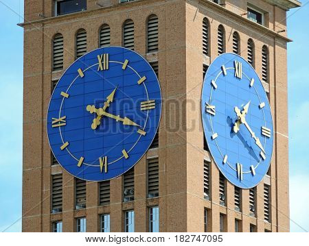 Big clocks attached to a church's tower
