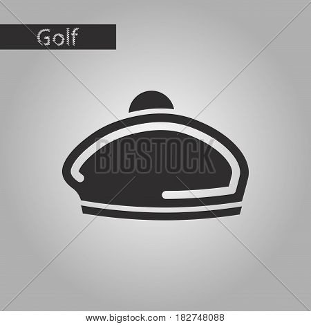 black and white style icon beret hat