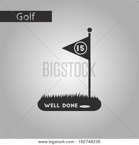 black and white style icon Golf course
