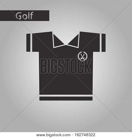 black and white style icon Golf shirt