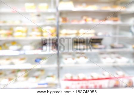 Supermarket Blurred Bokeh Abstract Background