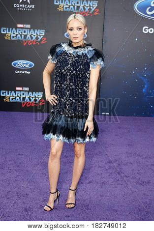 Pom Klementieff at the Los Angeles premiere of 'Guardians Of The Galaxy Vol. 2' held at the Dolby Theatre in Hollywood, USA on April 19, 2017.