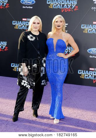 Hayley Hasselhoff and Taylor Ann Hasselhoff at the Los Angeles premiere of 'Guardians Of The Galaxy Vol. 2' held at the Dolby Theatre in Hollywood, USA on April 19, 2017.