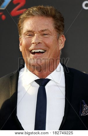 David Hasselhoff at the Los Angeles premiere of 'Guardians Of The Galaxy Vol. 2' held at the Dolby Theatre in Hollywood, USA on April 19, 2017.