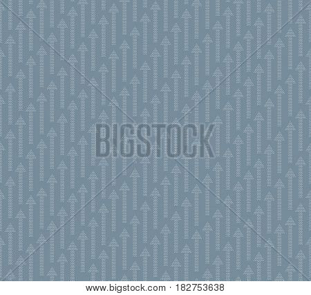 Arrow Up Seamless Pattern Background. Success Texture