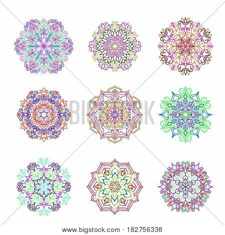 Abstract flower pattern. Mandala ornament. Floral oriental decor