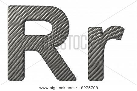 Carbon Fiber Font R Lowercase And Capital Letters