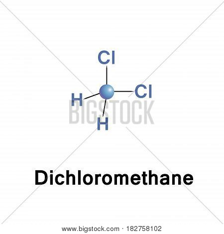 Dichloromethane, DCM, or methylene chloride, is an organic compound with the formula CH2Cl2. This colorless, volatile liquid with a moderately sweet aroma is widely used as a solvent