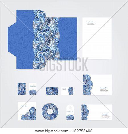 Blank corporate identity set on white background. For design presentations and portfolios.