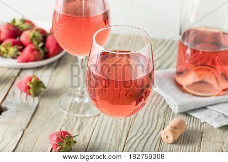 Refreshing Pink Rosé Wine