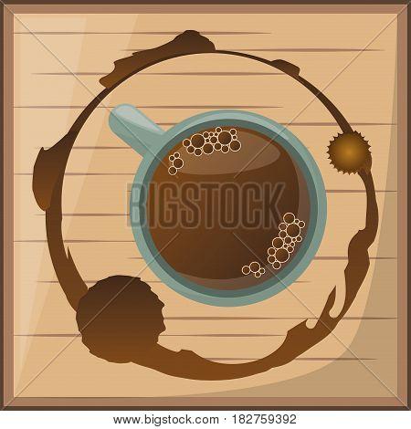 coffee cup over wooden desgin vector illustration eps 10