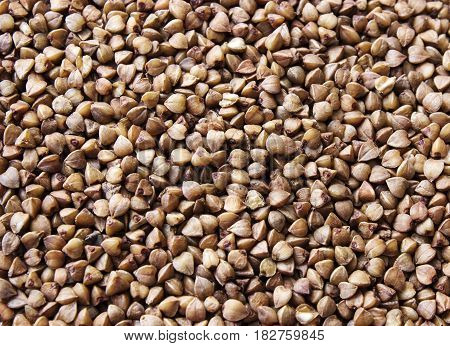 Background buckwheat. Useful and dietary product for a healthy diet