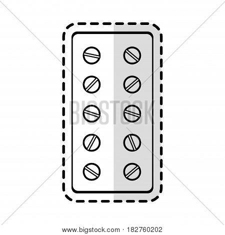tablets medication health icon image vector illustration design