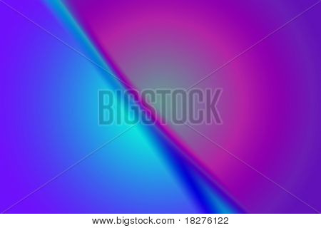 Background that resembles an abstract magenta sunrise over a blue surface poster