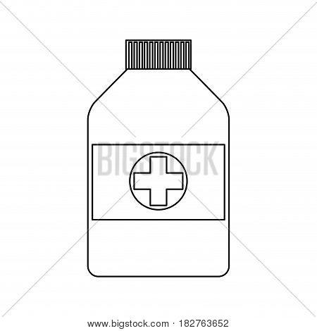 medication bottle health icon image vector illustration design