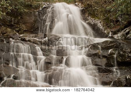 Laurel Fall in the Great Smoky Mountains National Park