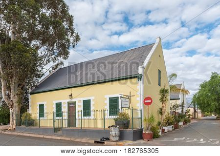 CALITZDORP SOUTH AFRICA - MARCH 24 2017: The first parsonage of the Dutch Reformed Church in Calitzdorp built circa 1859