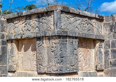 Details Of Carvings In Chichen Itza