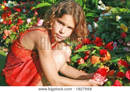 Summer Portrait Young Brunette