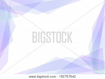 violet and blue geometric spectrum abstract background, solf purple transparent layout, prism business template, vector illustration