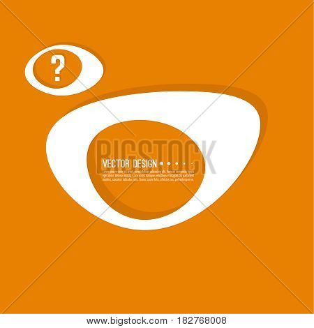 Question mark icon. Help symbol. FAQ sign on background. vector. Modern popular banner in the trend. Orange color.