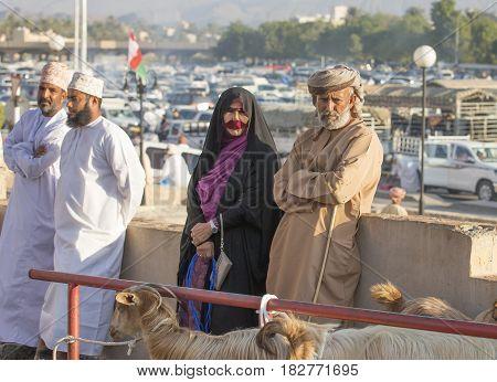 Omani Couple At A Market