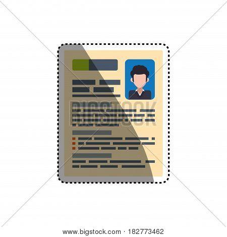 document curriculum vitae vector icon illustration graphic design