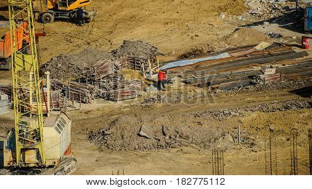 Construction Site From Top View