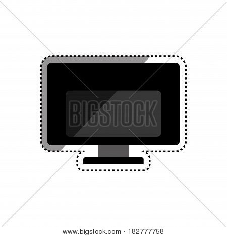 pc computer backwards technology vector icon illustration