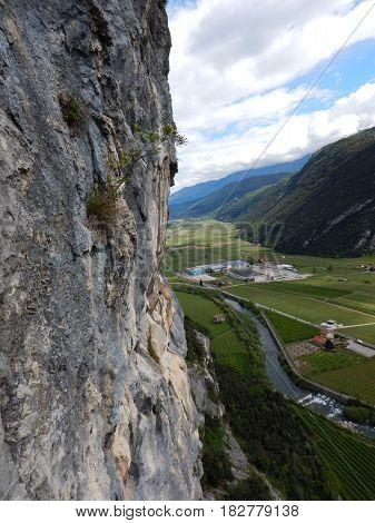 Valley Of The Sarca River In Trentino Alto Adige