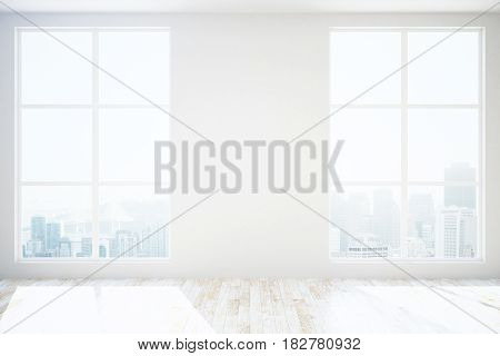 Unfurnished Room With Blank Wall