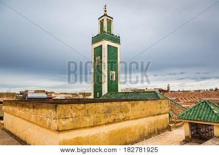 Views From Madrasa Roof Terrace In Meknes Medina, Morocco
