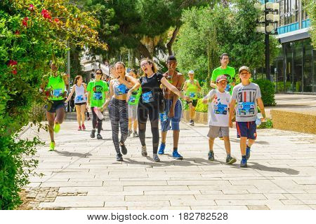 Popular Charity Running (zau Larutz 4) In Haifa