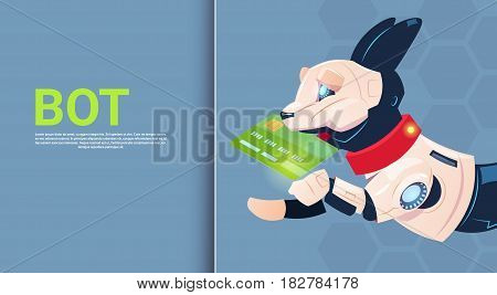 Chat Bot Robot Virtual Assistance Of Website Or Mobile Applications, Artificial Intelligence Concept Flat Vector Illustration