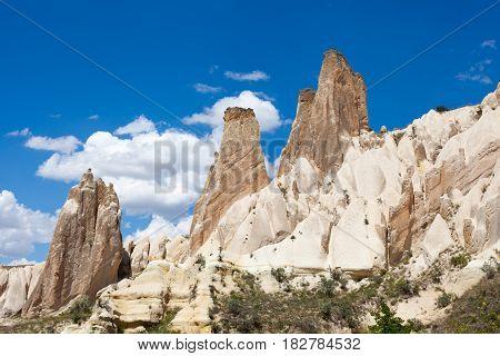Wonderful landscape of Cappadocia in Turkey near Gereme
