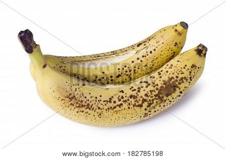 Ripe bananas isolated on white background isolation