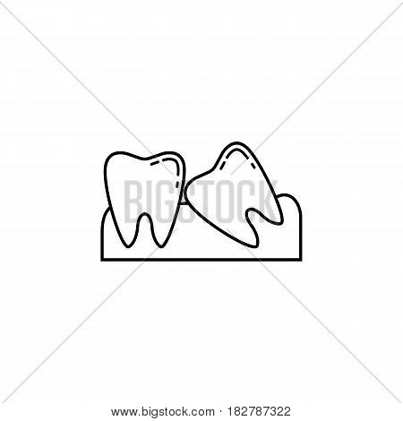 Wisdom teeth line icon, Dental and medicine, vector graphics, a linear pattern on a white background, eps 10.