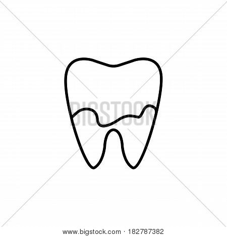 Denatal Plaque line icon, Dental and medicine, tooth sign vector graphics, a linear pattern on a white background, eps 10.