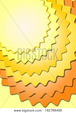 Background with overlapping stars in yellow and orange design