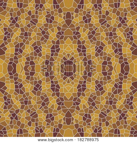 Seamless polygonal ornament tile in various shades of brown
