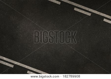 Highway Lanes Background Concept with Copy Space in Between the Lanes. Asphalt Pavement Backdrop.